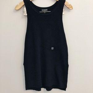 EXPRESS Black Sleeveless Knit Sweater Side Slit S
